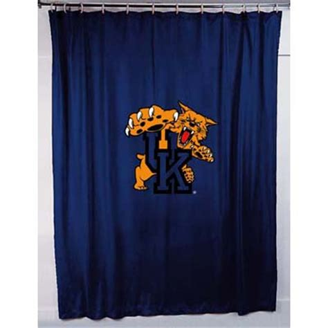 locker room shower curtains kentucky wildcats locker room shower curtain