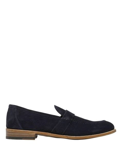 velour loafers francesco benigno velour suede loafers in blue for