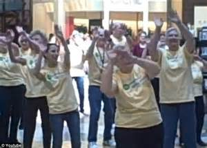 Senior citizen flash mob dazzles crowd at shopping mall daily mail