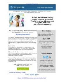 webinar invitation retail mobile marketing