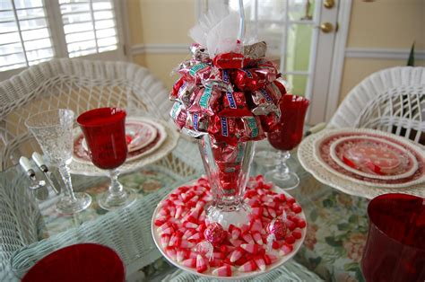 how to do a christmas candy sunday centerpiece a s day tablescape table setting with diy bar quot sundae quot centerpiece