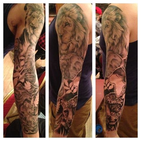 animal sleeve tattoo designs stustattoos sleeve wildlife elephant