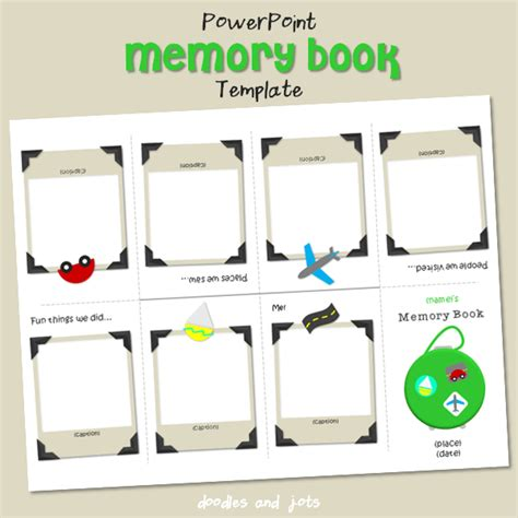 memory powerpoint template memory book for baby doodles and jots