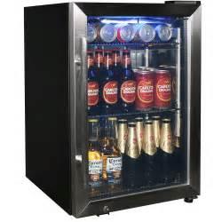 Small Home Bar Fridge Tropical Glass Door Drinks Chiller Refrigerator