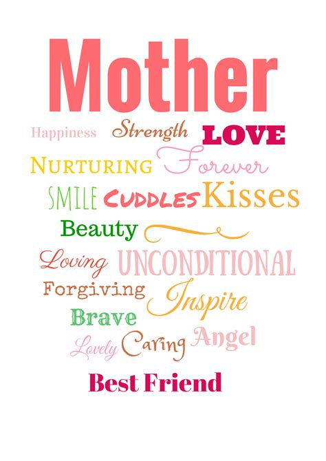Mothers Day Poster Free Printable S Day Poster From Evija With