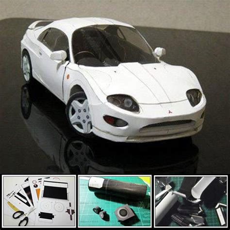 How To Make A 3d Car Out Of Paper - fto sports car 3d paper model diy origami paper