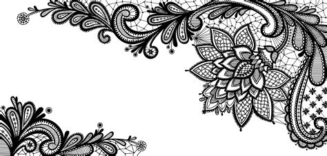 Black Lace Ornament PNG Clipart Picture   Gallery Yopriceville   High Quality Images and