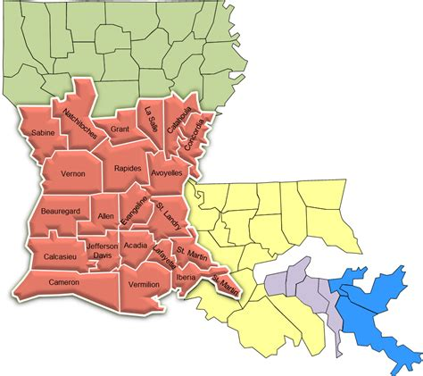 Louisiana Judicial Search Louisiana Circuit Court Map Map