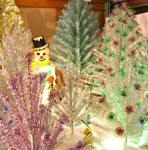 silver forest aluminum christmas tree mykenoshacounty it s bling retro trees return