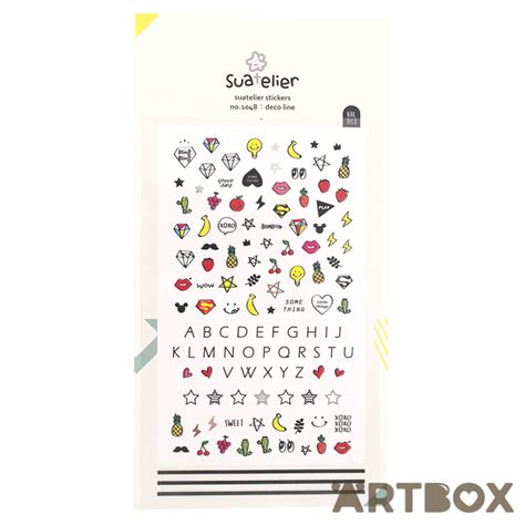 buy kawaii suatelier deco line nail seal stickers at artbox