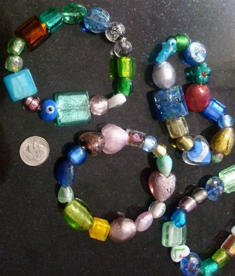 lwork bead supplies 4 foil glass l work glass multi colored shaped