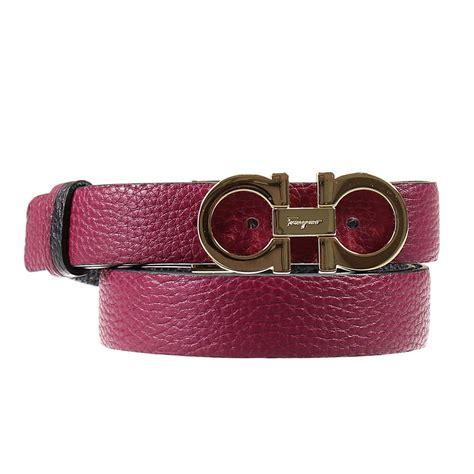 Ferragamo Purple lyst ferragamo belt in purple