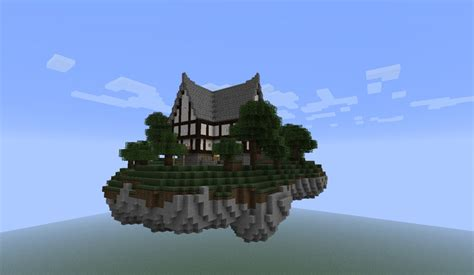 adventures in the construction world a house built out of floating island with a house minecraft project