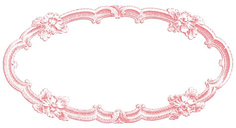 retro clip art vintage clip art delicate oval frame the graphics fairy
