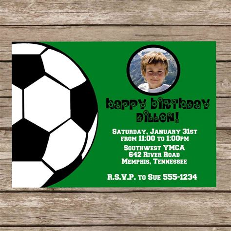 Soccer Invitation Card Templates by Free Football Birthday Invitations Best Ideas