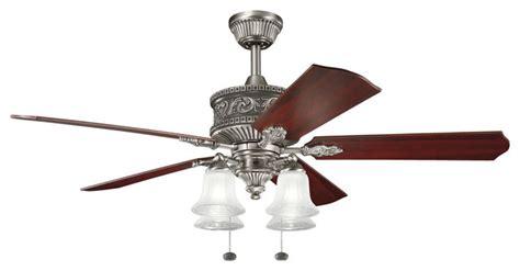 victorian ceiling fans kichler 4 light fan antique pewter victorian ceiling