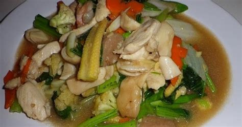 cara membuat capcay udang sayur cara memasak capcay sayur bakso udang kuah kental sederhana
