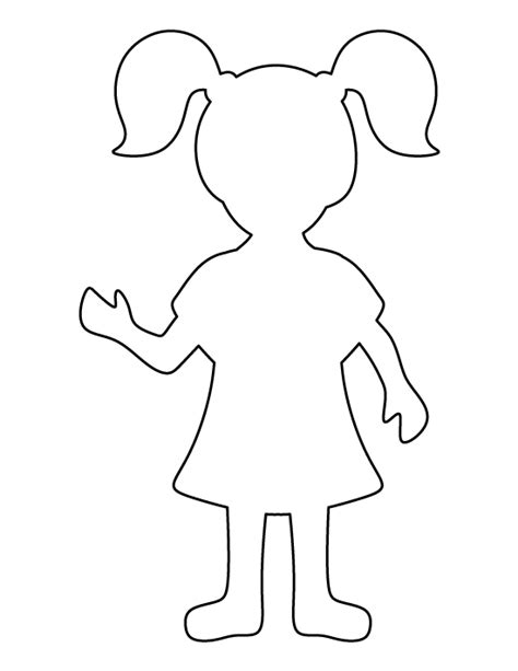 printable paper stencils girl pattern use the printable outline for crafts
