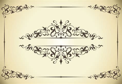illustrator template artist sketch cards ヴィンテージ ウェディング フレーム vintage decorative wedding frames イラスト