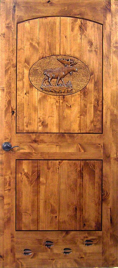 carved interior door moose carving the log furniture store