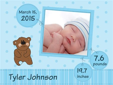 Baby Announcement Boy Poster Signazon Baby Announcement Poster Template