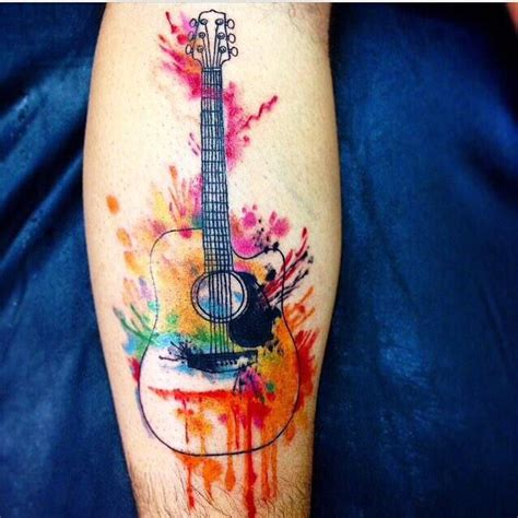 watercolor tattoo guitar 72 best images about ideas on