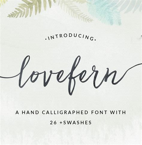 Wedding Font With Tails by Lovefern A Modern Calligraphy Swashes Font Modern