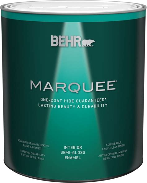 behr marquee marquee 174 939 ml medium base semi gloss enamel interior paint with primer the home