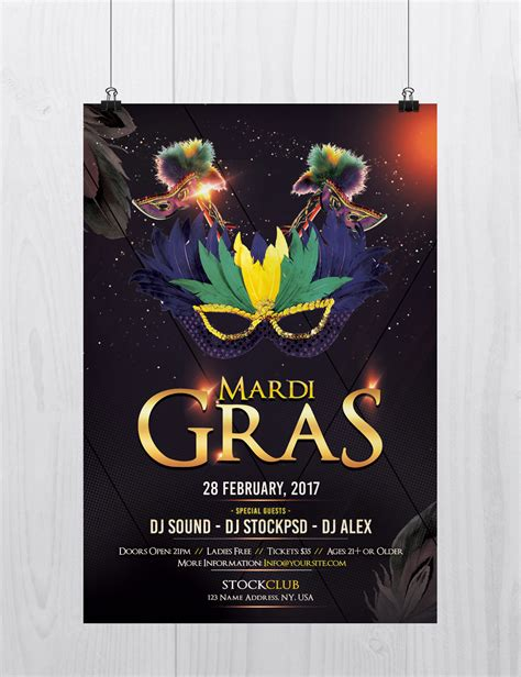 Stockpsd Net Free Psd Flyers Brochures And More Mardi Gras Download Free Psd Flyer Mardi Gras Flyer Template Free