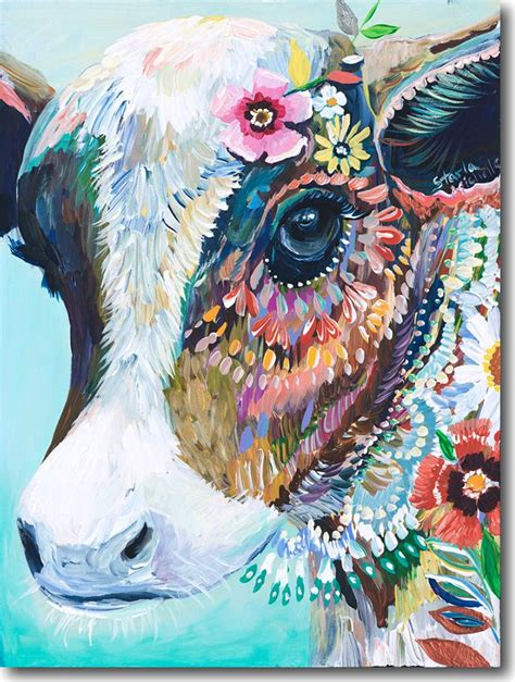 colorful cow painting 25 best ideas about animal paintings on