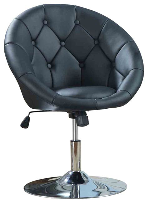 Faux Leather Tufted Swivel Adjustable Air Lift Dining Leather Swivel Dining Chairs