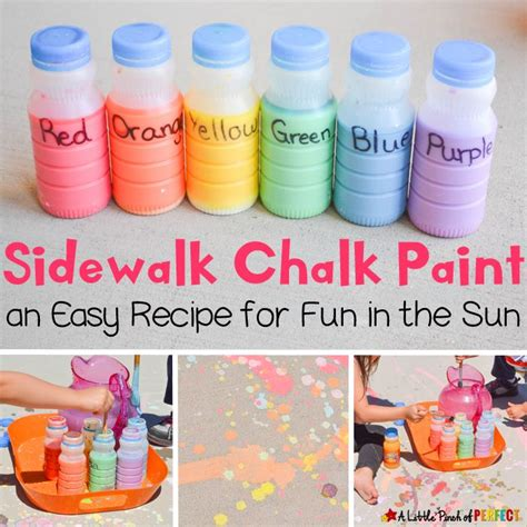 diy sidewalk chalk paint recipe 1000 ideias sobre giz de cal 231 cada caseiro no