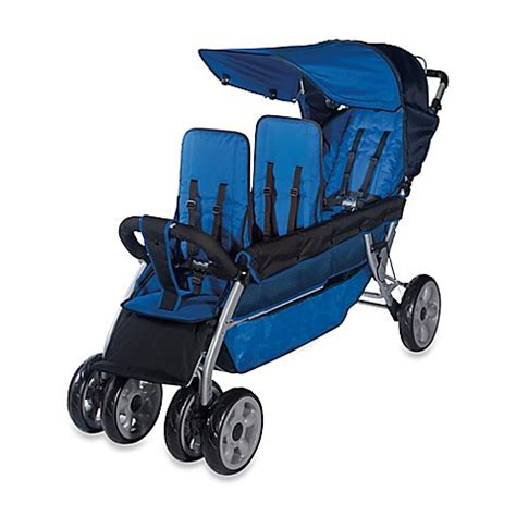 bed bath and beyond strollers buy foundations 174 lx 3 passenger stroller from bed bath