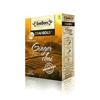 Geebees Chai Gold Unsweetened geebees chai gold sweetened 10 sachets box buy geebees chai gold sweetened 10