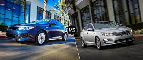 Kia Forte Vs Kia 2017 Kia Optima Hybrid Vs 2016 Kia Optima Hybrid