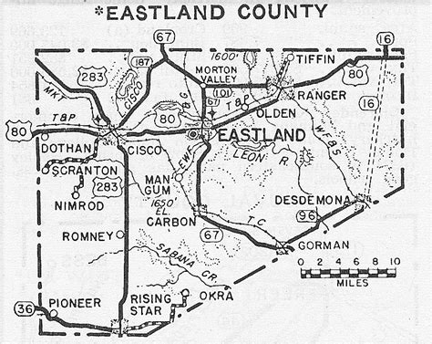 eastland texas map populated places in eastland county texas