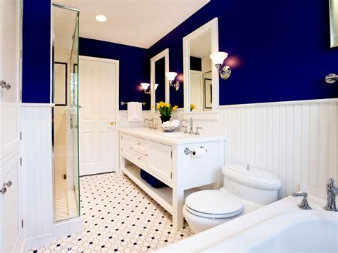 royal blue bathrooms love the royal blue and white contrast master bathroom