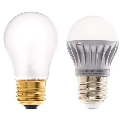 Compare Led Light Bulbs To Incandescent A15 Globe Led Bulb 5 Watt Household A19 Globe Par And Br Led Home Lighting