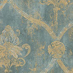 Gold Wallpaper Amazon | wallpaper french faux aqua blue large damask with gold