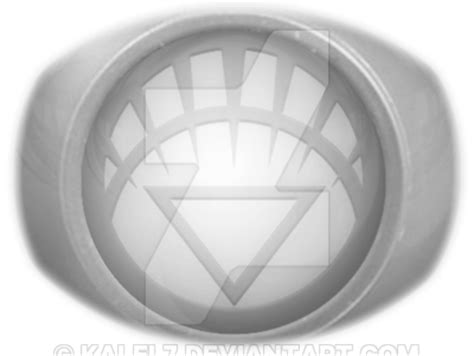 white lantern ring coloured by kalel7 on deviantart