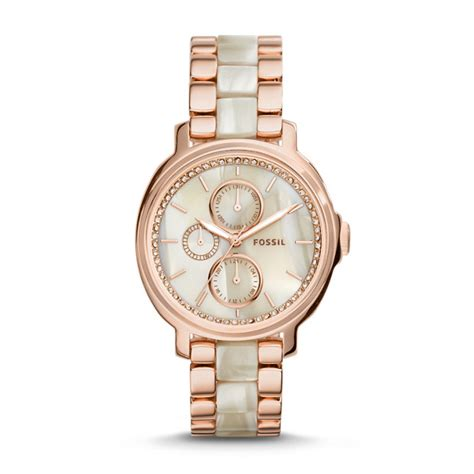 Fossil Chelsey Gold Es3923 chelsey multifunction gold and acetate fossil