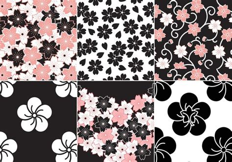 Modern Color Scheme by Sakura Flower Vector Pattern Pack Download Free Vector