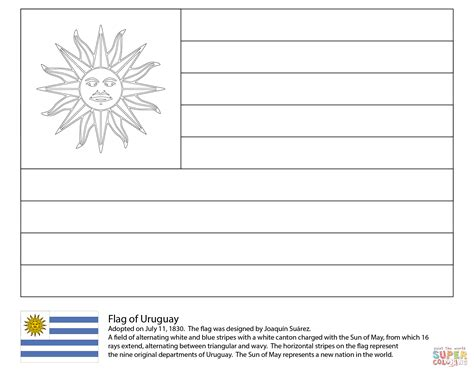 uruguay flag coloring page free printable coloring pages