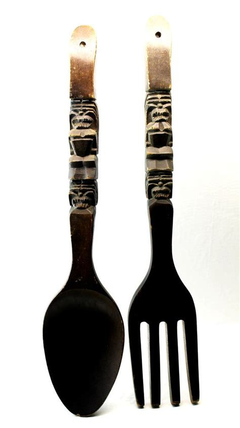 large wooden fork and spoon forks and spoons