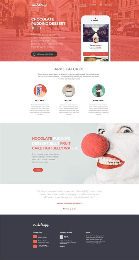 mobileapp application landing page html template free