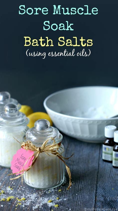 Detox Bath For Sore Muscles by Best 25 Bath Salts Ideas On Diy Bath Salts