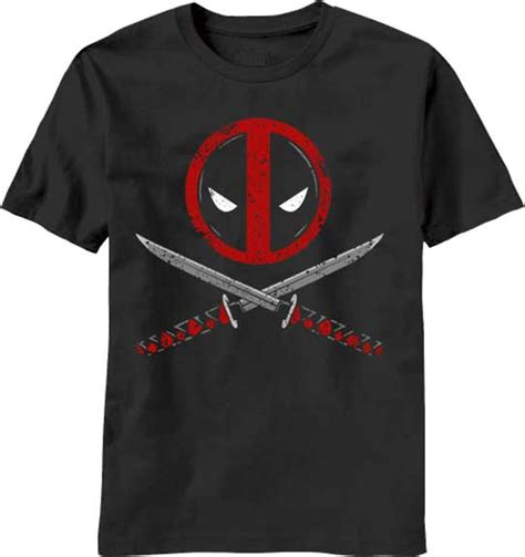 Tshirt Deadpool 8 by Marvel Deadpool Crossbones T Shirt