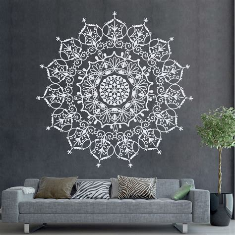 Indian Pattern Wall Stickers | bohemian indian pattern mandala wall decals floral by
