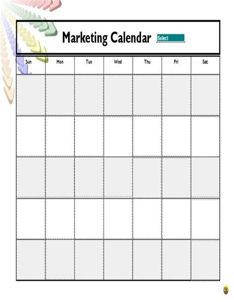 advertising calendar template marketing calendar free