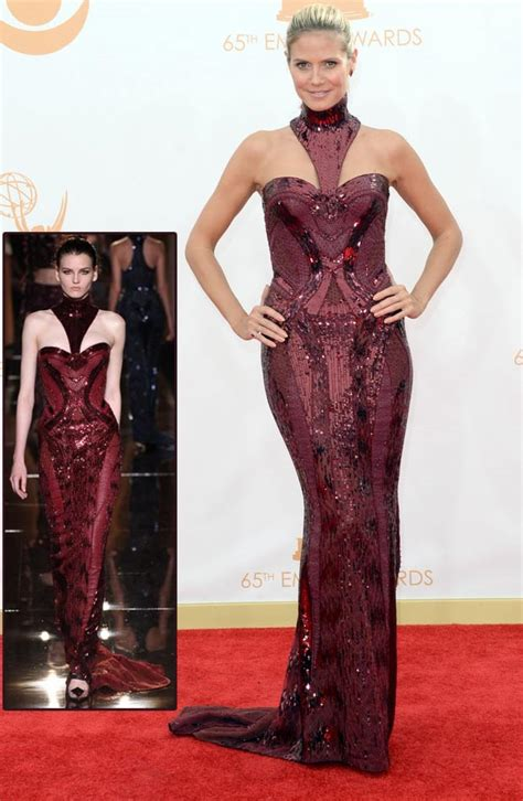 Catwalk To Carpet Emmy Rossum Who Wore Versace Better by 2013 Emmy Awards Carpet Dresses Stylefrizz